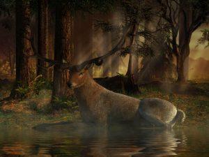 Der Hirsch aus der Sage von König Karl